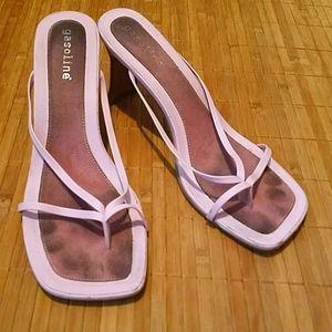 Cute pink heel sandals